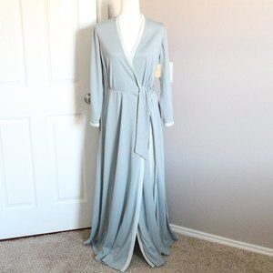 NWT Vintage Sears Fashions Blue Gown Robe 70s